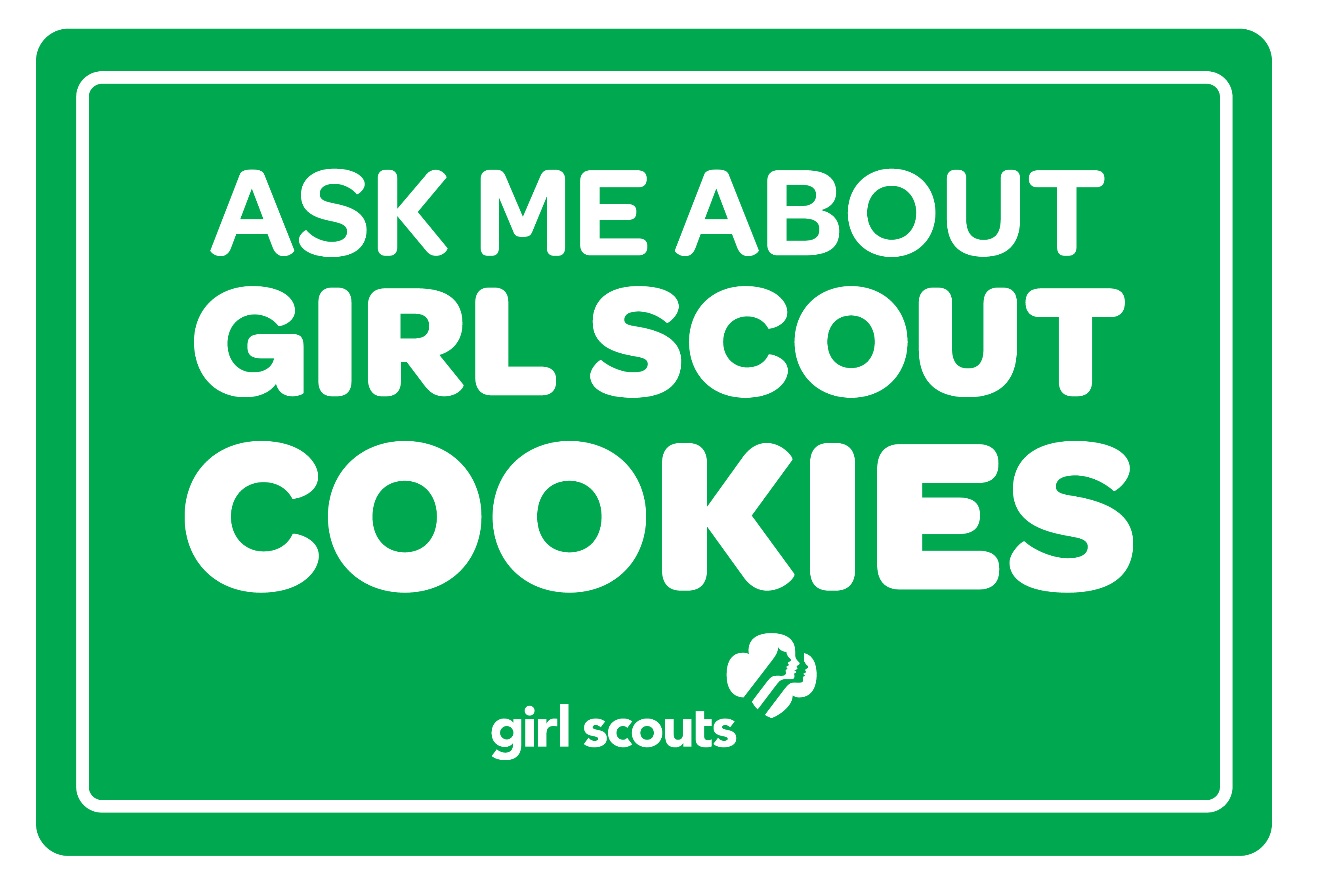 Ask Me About Girl Scout Cookies