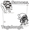 Coloring Page - Samoas & Tagalongs