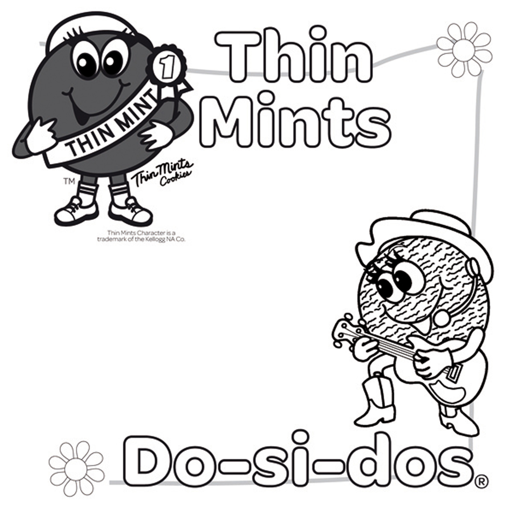 girl scout cookies coloring pages - photo#17