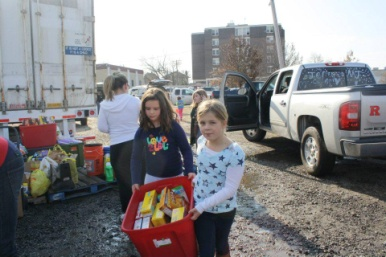 Rockaway Girl Scout troops held a collection drive for cleaning supplies and other items.