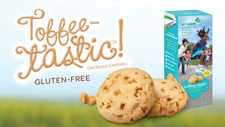 new toffee tastic girl scout cookies are gluten free