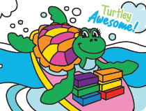 Color Her World: Turtle
